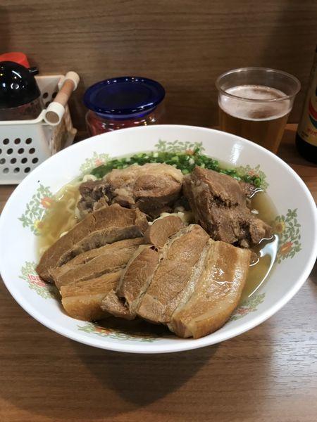 「ソーキ三枚肉そば(1.5倍)」@すばやの写真