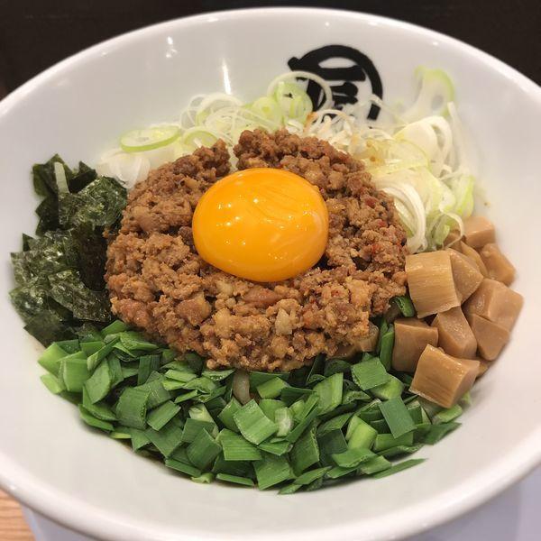 「台湾まぜそば」@麺や マルショウ 新なにわ大食堂店の写真