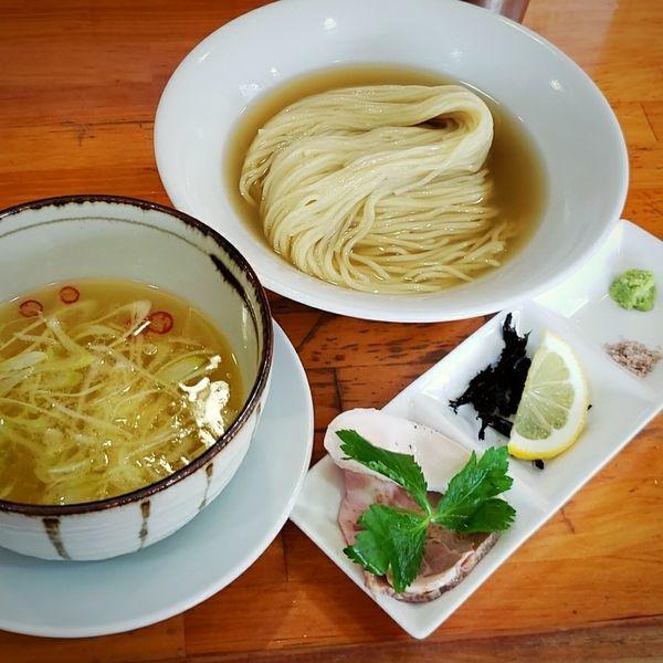 「【本日の限定】蟹煮干しつけめん 900円」@麺屋 むじゃきの写真