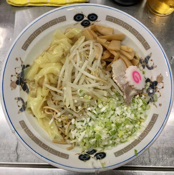 「キリンラガービール中瓶→ワンタンメン油そば」@中華そば みたかの写真