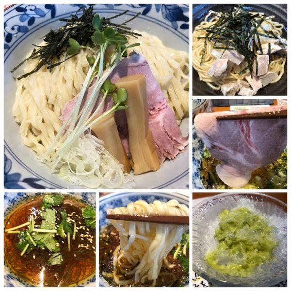 「【限定】元祖山葵カキ氷割付き  和風淡麗つけ麺 900円」@㐂九八 ~garage~の写真