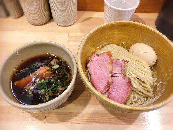 「鰹昆布出汁醤油つけ麺 特製」@迂直の写真