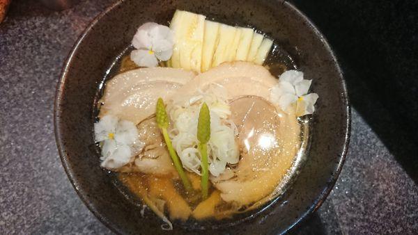 「限定冷やし静蓮 1000円」@烈志笑魚油 麺香房 三くの写真