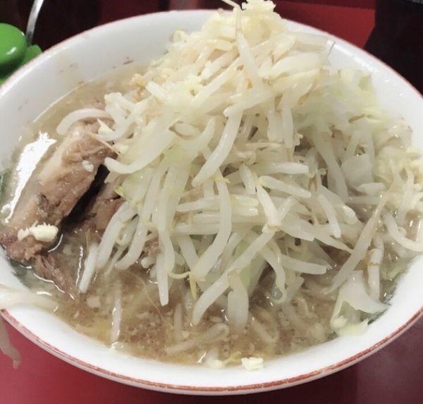 「小麺少なめヤサイニンニンアブラ」@ラーメン二郎 京急川崎店の写真