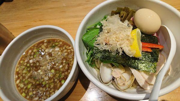 「特製鶏と蛤の濃厚つけ麺(1180円)」@Ginza Noodles むぎとオリーブの写真