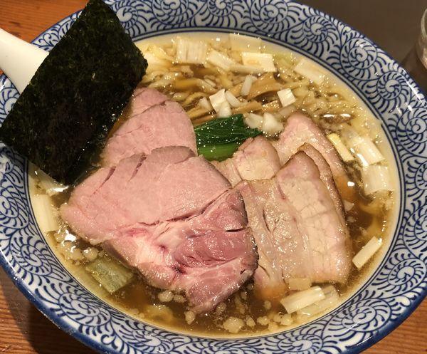 「チャーシュー手揉み中華蕎麦 醤油」@麺処 ほん田の写真