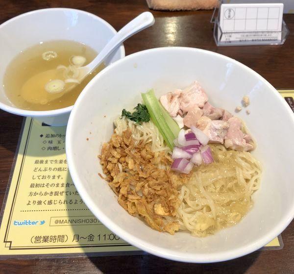 「5/25限定・塩生姜の冷やし油そば ¥1000」@塩生姜らー麺専門店MANNISHの写真