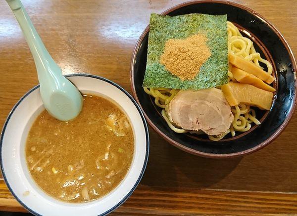 「魚介系豚骨つけ麺(800円)」@横浜家系ラーメンとりとんの写真