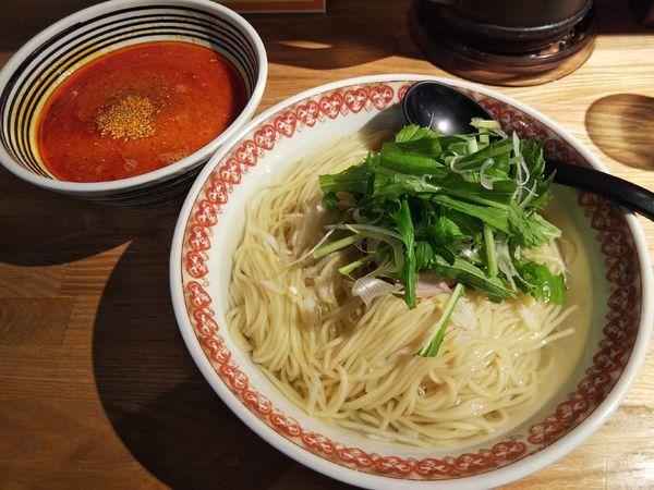 「坦々つけ麺 ~レモン水仕立て~ (大盛り:サービス券)」@麺肴 ひづきの写真