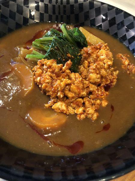 「チキンチーズカレー担々麺」@麺&cafe Coi.Coi.の写真