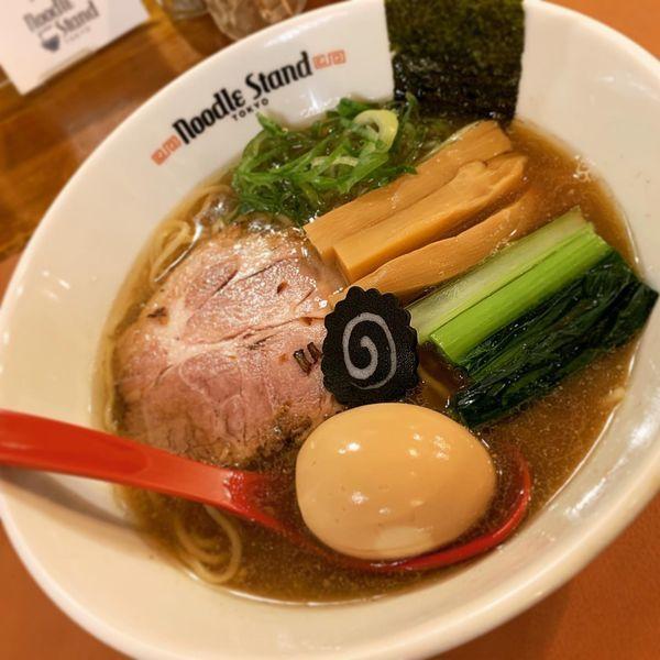 「味玉KUROSHIO煮干ラーメン 醤油」@Noodle Stand Tokyoの写真