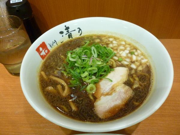「煮干ブラックラーメン」@清乃 近鉄店の写真