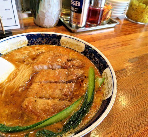 「排骨坦々麺(950円)」@支那麺 はしご 新小岩店の写真
