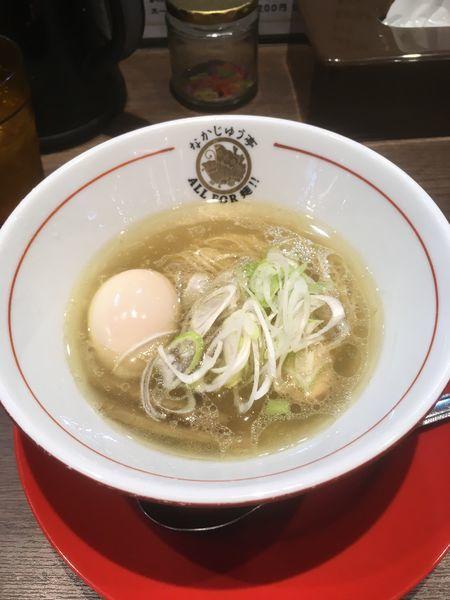 「鶏清湯味玉らーめん(塩味880円)」@らーめんや なかじゅう亭 高崎オーパ店の写真