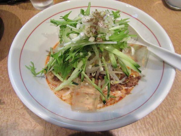 「白胡麻冷やし担々麺(900円)+水餃子430円」@新中華食堂 天海の写真
