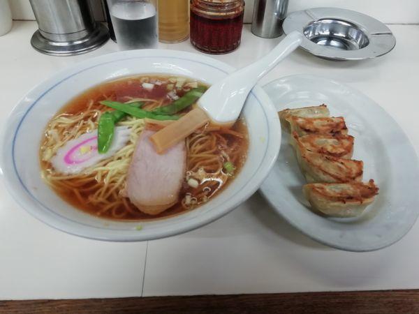 「ラーメン+餃子」@中華料理タカノの写真