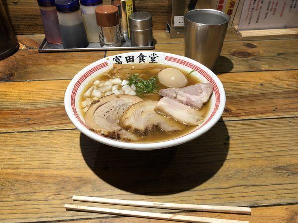 「特製煮干」@松戸中華そば 富田食堂の写真