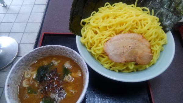 「つけ麺(3玉)、のり」@とんこつラーメン松平 六浦店の写真