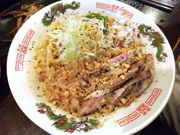 「ガーリックまぜそば」@立ち呑み居酒屋 金町製麺の写真