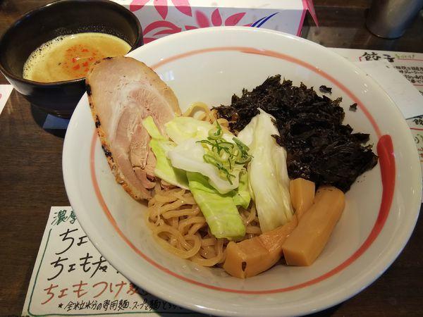 「ちょもつけ麺」@俺らラーメン ちょもらんまの写真