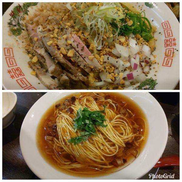 「ラーメン2種(potiさん任せ)」@立ち呑み居酒屋 金町製麺の写真