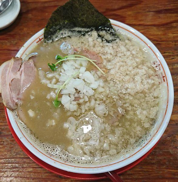 「煮干鬼脂中華そば+肉増し(1000円)」@つけめんTETSU さいたま特別版の写真