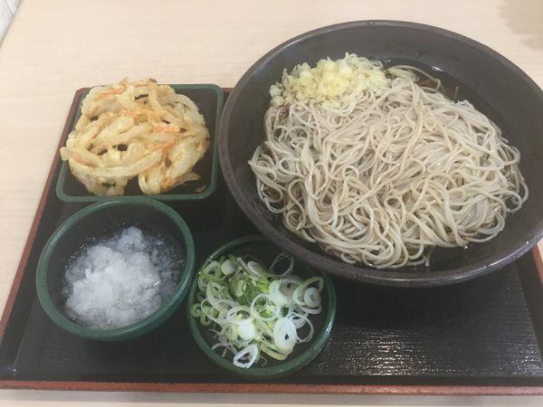 「朝そば鬼おろし・そば大盛(¥330+クーポン)」@ゆで太郎 錦町店の写真