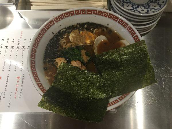 「鶏白湯はまぐり味噌黒ラーメン(¥780)」@神田 焼きはまぐり STAND 神田日銀通り店の写真
