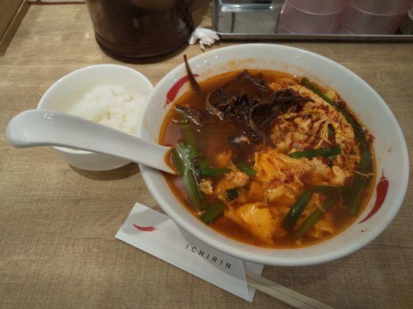 「辛麺 5きくらげ小ご飯」@辛麺屋 一輪の写真