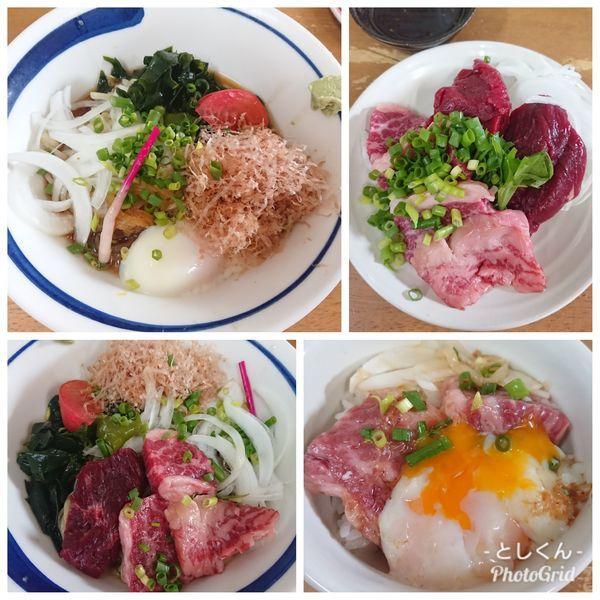 「【6月限定】馬刺し和風冷中(S)」@MENYA 食い味の道有楽の写真