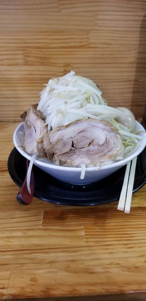 「極太麺(塩)、味玉」@麺屋 とん嬉の写真