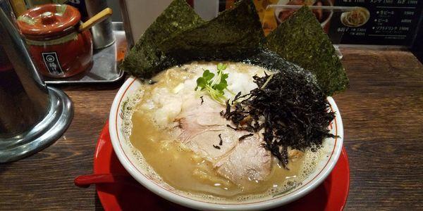 「煮干し鬼脂 のりまし」@つけめんTETSU 壱の木戸 水戸店の写真