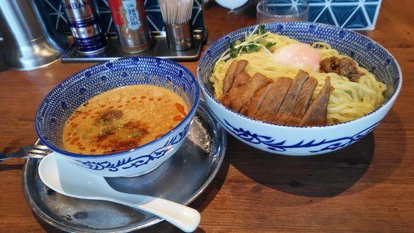 「担々つけ麺 大盛 + ミニパーコー」@ハマカゼ拉麺店の写真