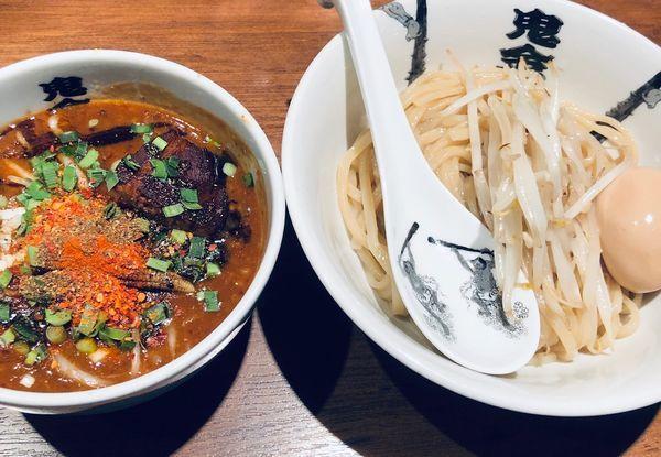 「からシビ玉子つけ麺(¥1000)」@カラシビつけ麺 鬼金棒の写真