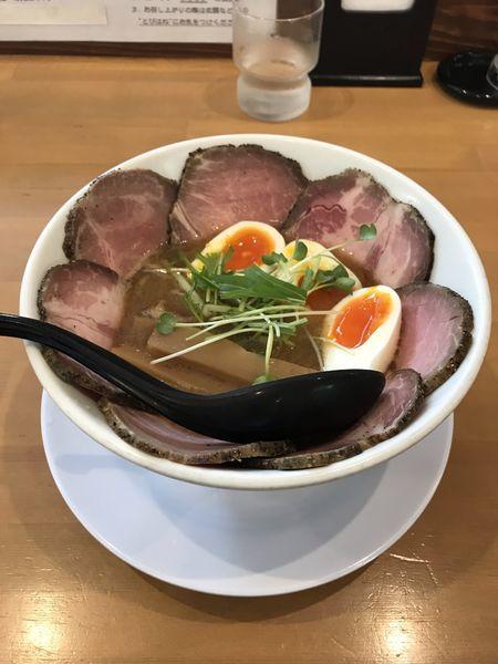 「焼豚新中華そば+味玉」@麺人 ばろむ庵の写真