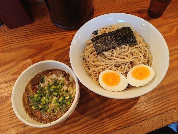 「つけ麺(中)+かつお味玉」@富士らーめんの写真