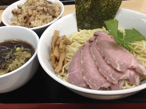 「つけ麺+チャーシュー+炊き込みご飯」@中華そば こてつの写真