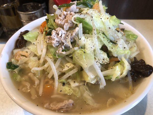 「たんめん・中・太麺(800円)」@麺処 まるよし商店の写真