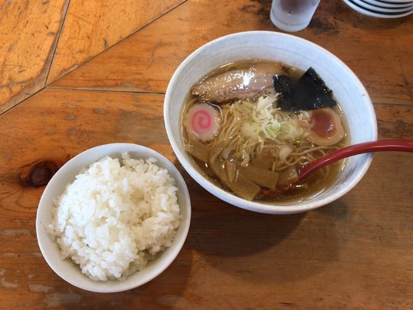 「Bセット(500円)+餃子三個(開業10周年サービス)」@大正麺業の写真