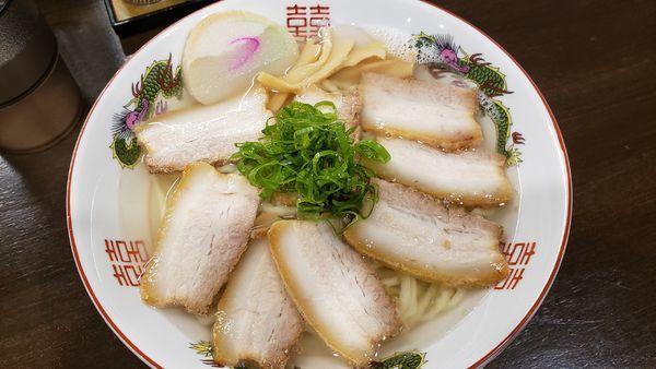 「肉そば」@自家製麺中華そば 番家の写真