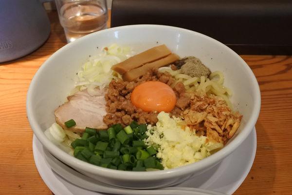 「【限定】濃厚鶏パイタンまぜSOBA¥850」@龍神麺の写真