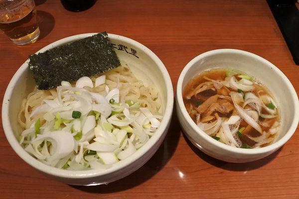 「淡麗魚介つけめん¥780+千住ネギ¥150」@麺屋 江武里の写真