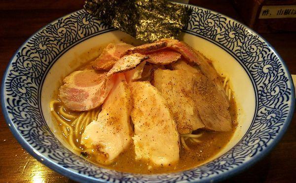 「炙り肉6煮干し中華蕎麦&和え玉」@煮干し中華蕎麦 山崎の写真