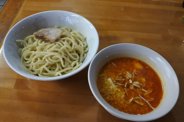 「【限定】背脂みそつけめん¥900(野菜抜き)」@ひかり食堂の写真