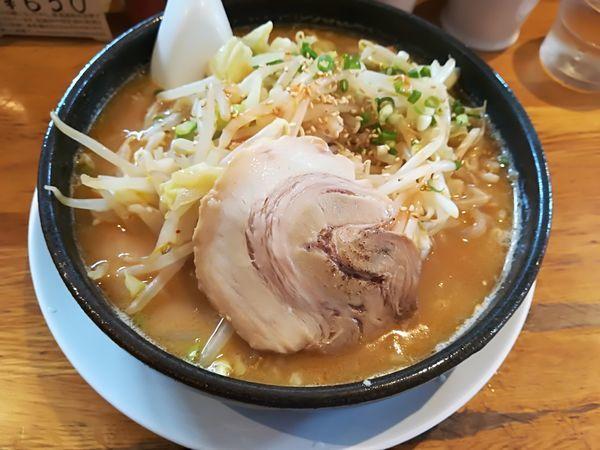 「6/8 濃厚味噌らーめん+もやし920円」@ちりめん亭 金沢能見台店の写真