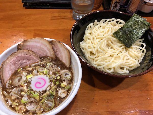 「ちょい肉つけ麺(並240g、バラ肉変更)」@自家製中華そば 麺 まる井の写真