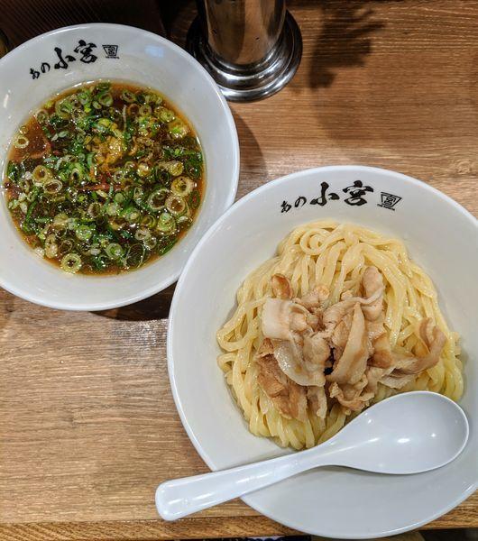 「肉つけ麺 790円」@らーめんとカラアゲ あの小宮の写真