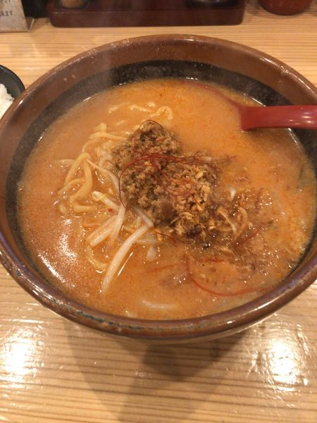 「北海道辛味噌らーめん(860円)」@蔵出し味噌 麺場壱歩 所沢店の写真