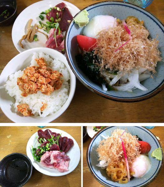 「【限定水無月】馬刺し和風冷中S赤身&霜肉 3000円」@MENYA 食い味の道有楽の写真
