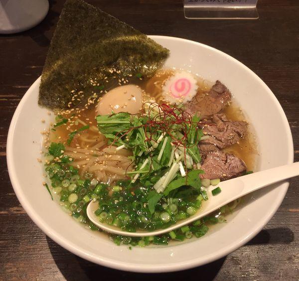 「牛麺+味付玉子」@らーめん 鷹の羽の写真